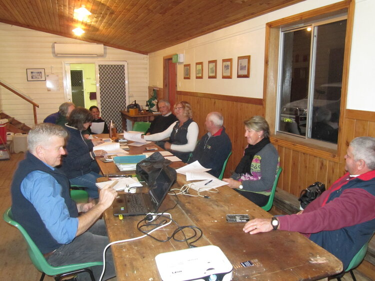 Russ Barrow and members of the Upper Mooki Landcare Group
