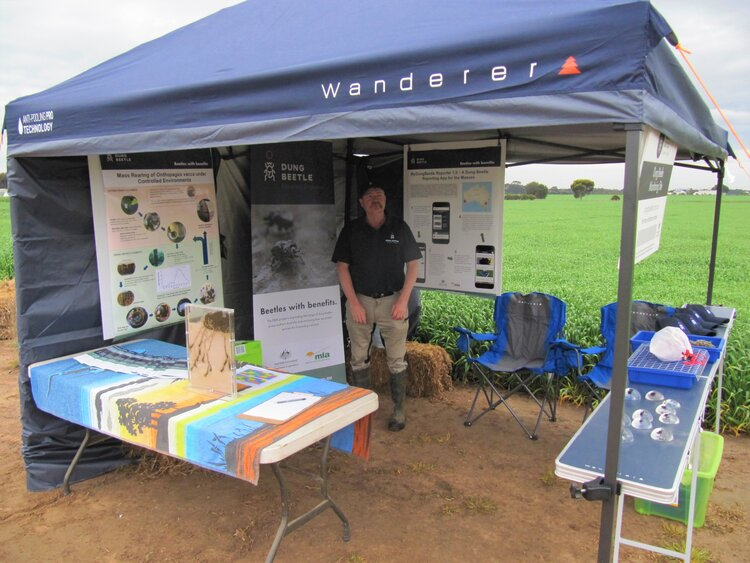 Graeme in the DBEE display at Agrifocus 2019