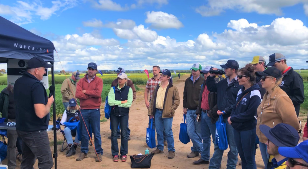 Russ delivering a field seminar at Agrifocus 2019